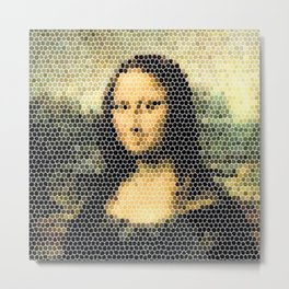 Mona Lisa - Leonardo Da Vinci. Metal Print
