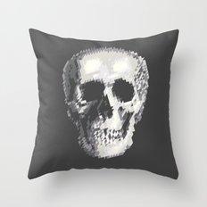 Tri Skull Throw Pillow