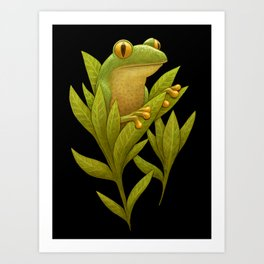 Frog Bloom Art Print