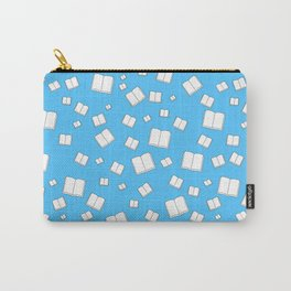 Blue Flying Books Pattern Carry-All Pouch