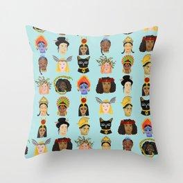 Goddesses Around the World Throw Pillow