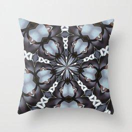 Shades Of Blue Kaleidoscope Throw Pillow