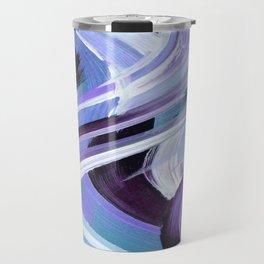 Wavy Blue Travel Mug