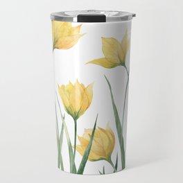 Yellow Woodland Tulips Travel Mug