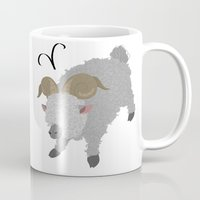 aries Mugs featuring Aries by Rejdzy