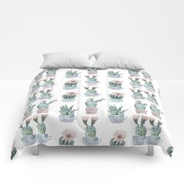 Girly Rose Cactus Pots Comforters