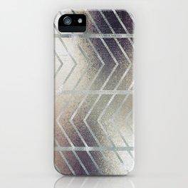 Luxury Silver and Black Herring Bone Pattern iPhone Case