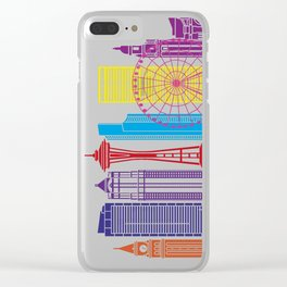 Seattle V2 skyline pop Clear iPhone Case