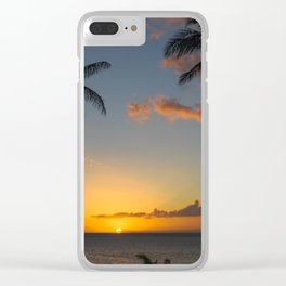 Hawaiian sunset Clear iPhone Case