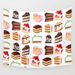 Yummy Cakes Wall Tapestry