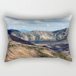 Lake and mountain view near Johnston's Ridge, either Coldwater Lake or Clearwater Lake Rectangular Pillow