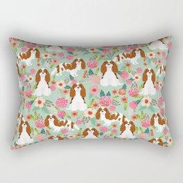 Blenheim Cavalier King Charles Spaniel dog breed florals pattern Rectangular Pillow