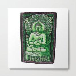 Buddha Meditation Olive Green Batik Wall Hanging Tapestry - See more at: http://www.handicrunch.com/ Metal Print