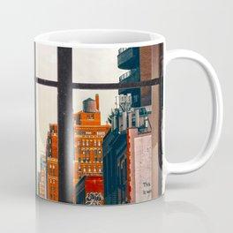 New York City Window #2-Surreal View Collage Coffee Mug
