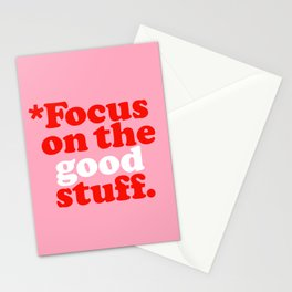 Focus On The Good Stuff. Stationery Cards