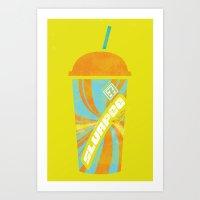 Slurpee Love Art Print
