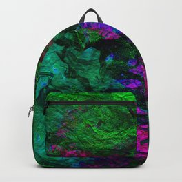 funky abstract waves Backpack