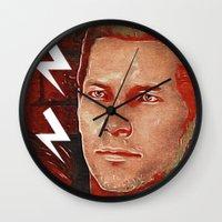 dragon age Wall Clocks featuring Commander Cullen: Dragon Age by Georgiart