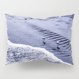 two blue sandpipers Pillow Sham