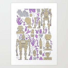 ROBOTIC / ORGANIC  Art Print