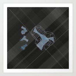 trple per mnml srf_001 Art Print