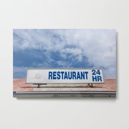 Open 24 Hours. Metal Print