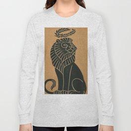 Vintage Lion Art Deco Illustration (1917) Long Sleeve T-shirt