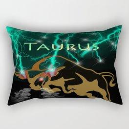 Taurus Birth Sign Rectangular Pillow