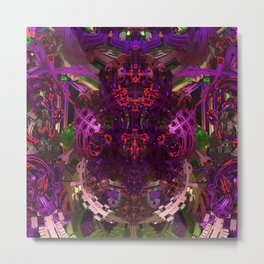 Exoskeleton Purple Metal Print
