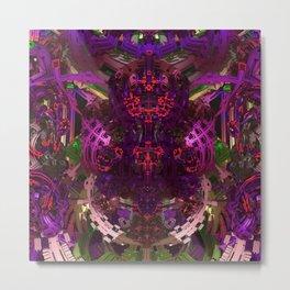 Exoskeleton Purple Metal Print