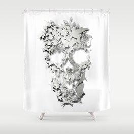 Simple Skull Shower Curtain