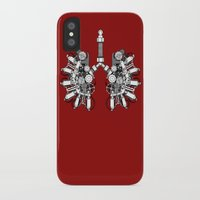 lungs iPhone & iPod Cases featuring lungs by khet13