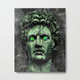 Angry Caesar Augustus Photo Manipulation Portrait Metal Print