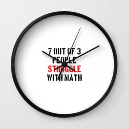 Math Struggle Wall Clock