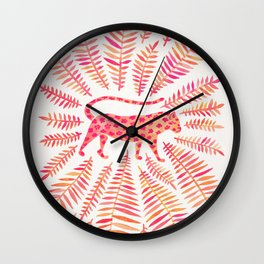 Jaguar – Pink Ombré Palette Wall Clock