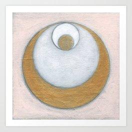 Gold Pink Moon Art Print