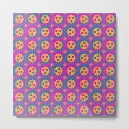 Gearwheels pattern Metal Print