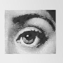 Lina Cavalieri - left eye Throw Blanket