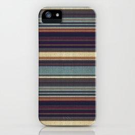 """Blue lines burlap"" iPhone Case"