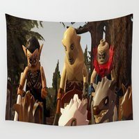 hobbit Wall Tapestries featuring Lego the hobbit by custompro