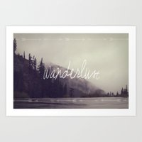 wanderlust Art Prints featuring Wanderlust by Christine Hall