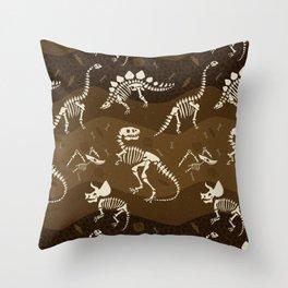 Fossil Dinosaur Pattern Throw Pillow