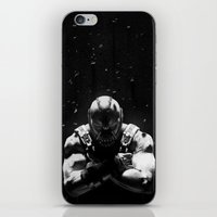 bane iPhone & iPod Skins featuring Bane by Sam Rowe Illustration