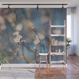 white apple blossom flowers on a beautiful spring day! Wall Mural