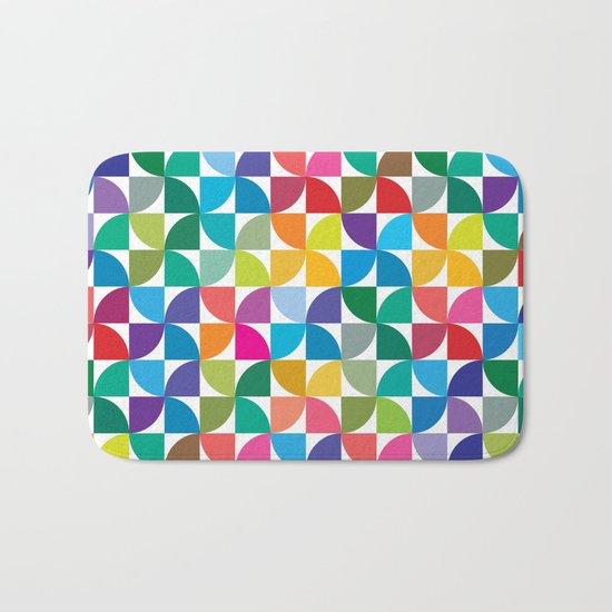 Geometrical work - Colours rotation Bath Mat