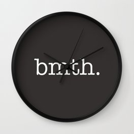 BMTH Simple Text Wall Clock