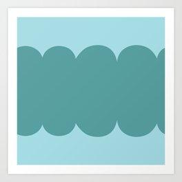 My Humps - Teal on Teal Art Print
