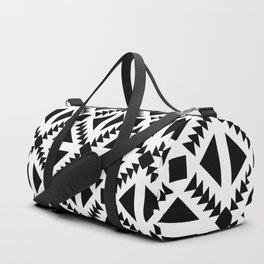 Geo Stamp Black Duffle Bag