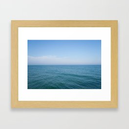 Floating to Blue Framed Art Print