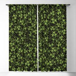 Biohazard (green on black) Blackout Curtain